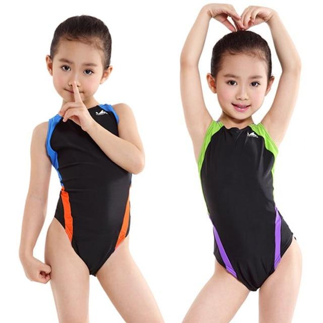 22fde773c708 Professional Kids Girls Swimwear Children One Piece Swimsuit Babies ...
