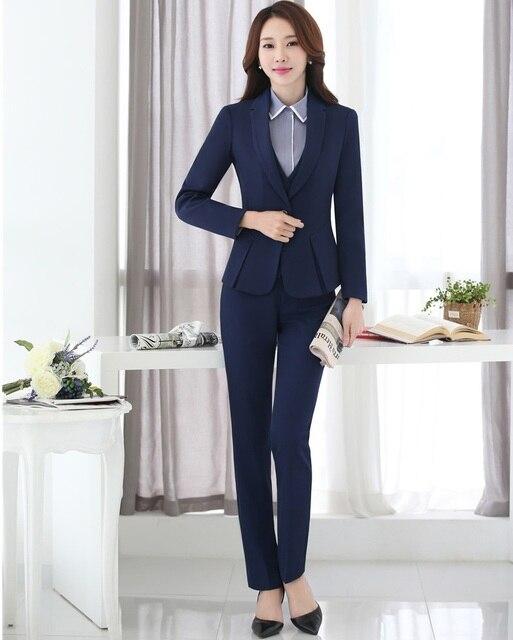 Nouveau 2018 Formelle Dames Noir Blazer Femmes Costumes D\u0027affaires avec  Pantalon et Veste,