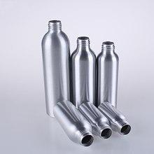 Многоразовые Пустые бутылки 1 шт. 30 мл 50 мл 100 мл Алюминиевая распылительная бутылка черный распылитель с насосом для косметического упаковочного инструмента
