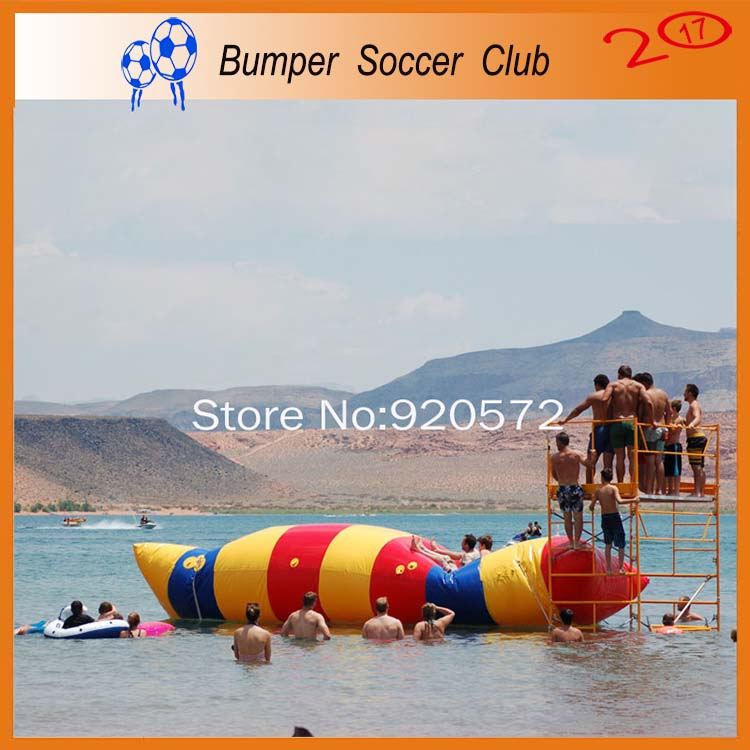 Free Shipping! Free Pump ! 5x2m Water games inflatable water catapult blob Inflatable Blob Jumping water blob jump for sale