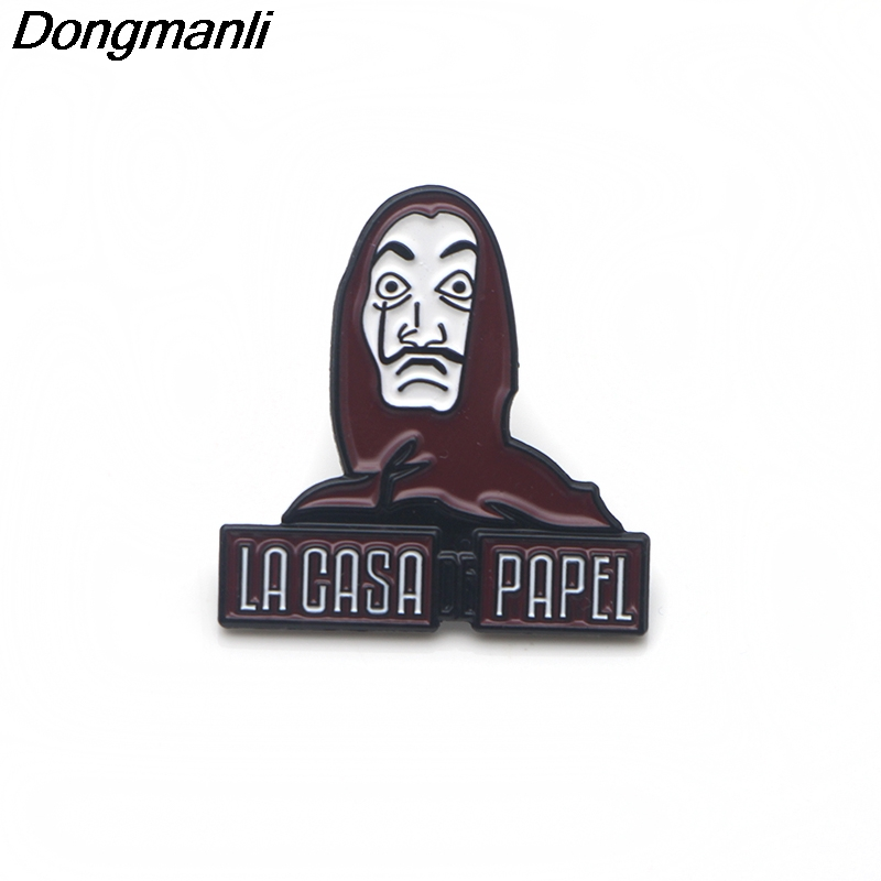 P3387 Dongmanli La casa de papel TV Show Metal Enamel Pins and Brooches for  Women Men Lapel Pin backpack bags Hat badge Gifts
