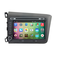 Android 4 4 4 Quad Core Car Radio DVD GPS Navigation Central Multimedia For Honda Civic