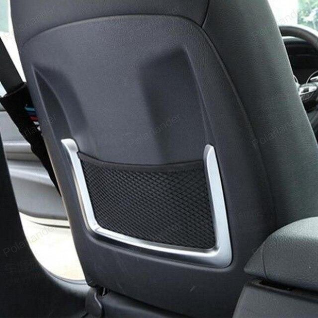 US $48 97  Aliexpress com : Buy 2Pcs ABS Chrome Seat Back Rear Storage Bag  net Cover Trim for BMW 3 Series F30 F31 2012 2016 4 Series F32 F33 2013