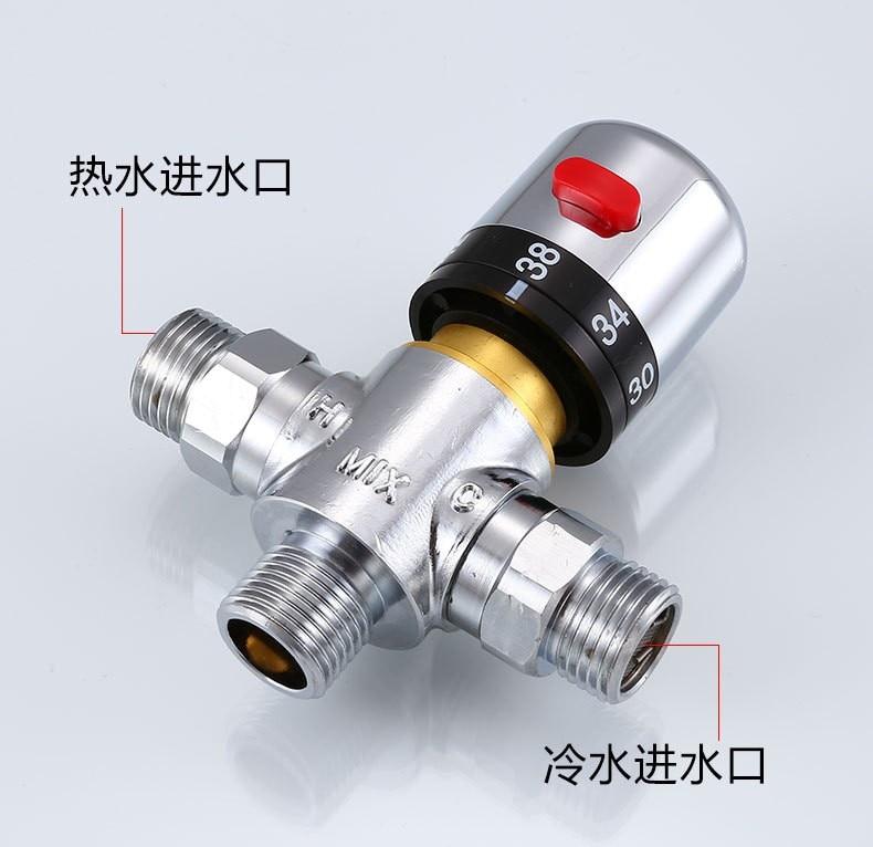1 2 válvula termostática de bronze temperatura