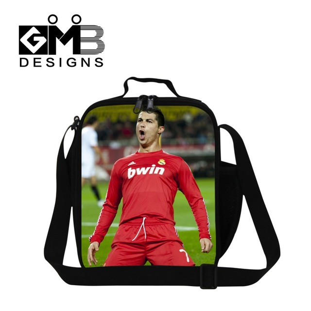 Dispalang Cristiano Ronaldo insulated Lunch cooler Bags for boys school thermal lunch container for kids,work lunch box bag