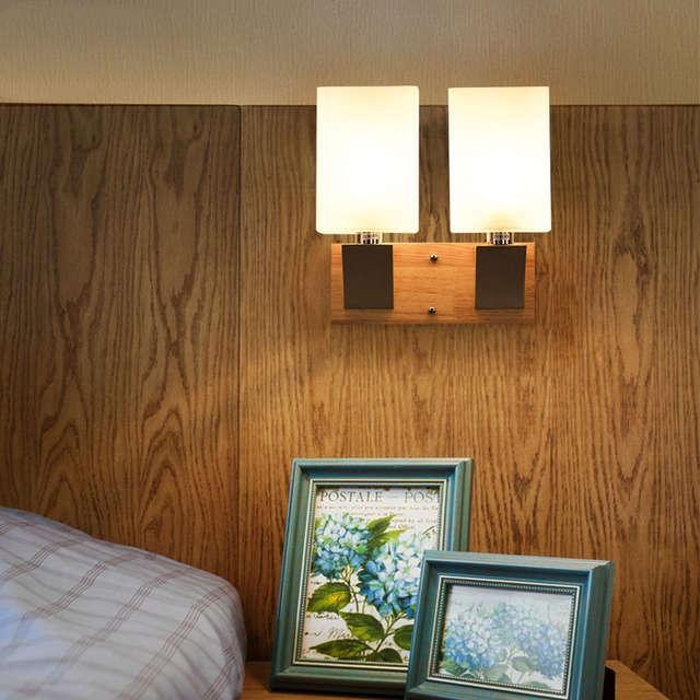 Wall Sconce Moderna Japan Style Lampada Da Parete Sconce per la camera da  letto di legno di Quercia Cabinet in legno massello Luminaria Lamparas ...