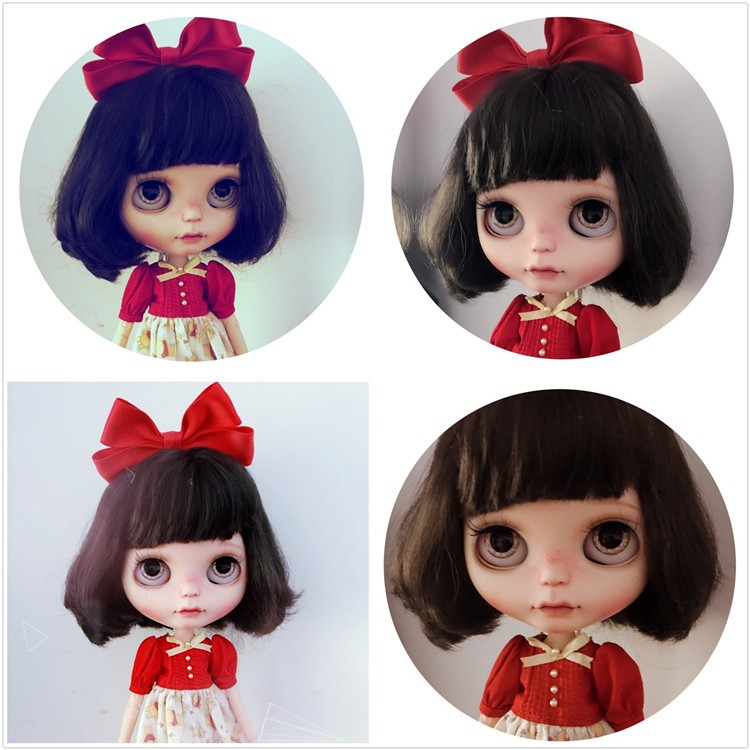 Neo Blythe Doll with Brown Hair, White Skin, Matte Face & Jointed Body 3