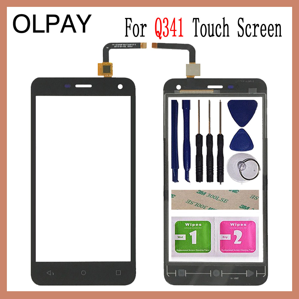OLPAY 5.0'' Phone Front Glass For Micromax Q341 Q 341 Touch Screen Touch Digitizer Panel Glass Tools Free Adhesive+Wipes