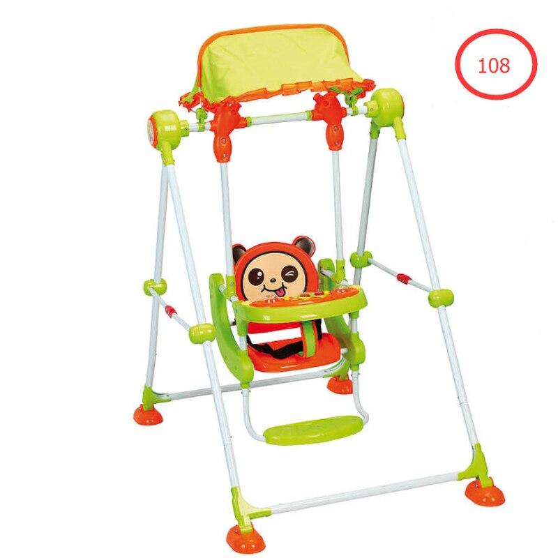 Tuyau en métal enfants balançoire chaise maison berceau chaise infantile balançoire chaise à bascule bébé jouet balançoire intérieure bébé activité Jumper balançoire - 2