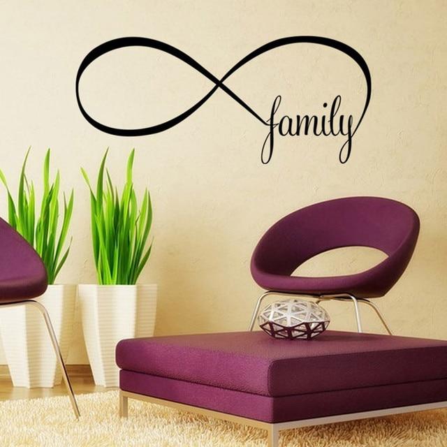 Ishowtienda 2250cm Bedroom Wall Stickers Decor Infinity Symbol Word