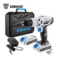 DEKO GCD18DU3 18 вольт DC литий-ионный Батарея 13 мм 50N. m 2-Скорость электрическая дрель мини отвертка влияние Мощность драйвер