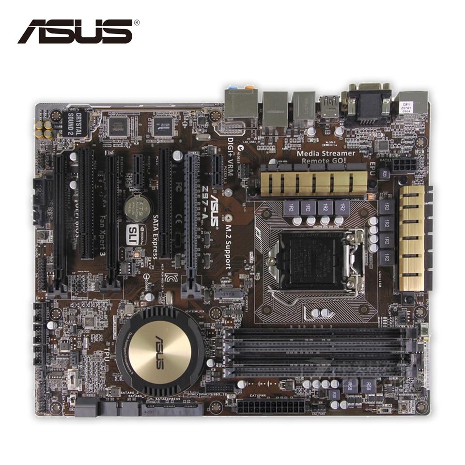 Asus Z97-A Original Used Desktop Motherboard Z97 Socket LGA 1150 i7 i5 i3 DDR3 SATA3 USB3.0 ATX asus z97 a