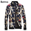 2017 new arrival high quality fashion spring printed casual slim jacket men .summer skinny jacket men