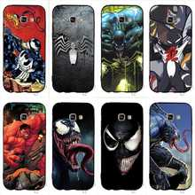Shockproof Venom Villain Marvel Anime Phone Cover for Samsung S6 Case A5 Galaxy A3 A6 S7 Edge S8 S9 Plus Note 8 9 Soft
