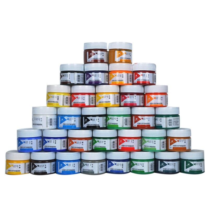 Acrílico de 100 ml embotellado/7/12/18/24/32 color pintura arte de la pared de pintura estudiante principiantes pintado a mano graffiti pintura