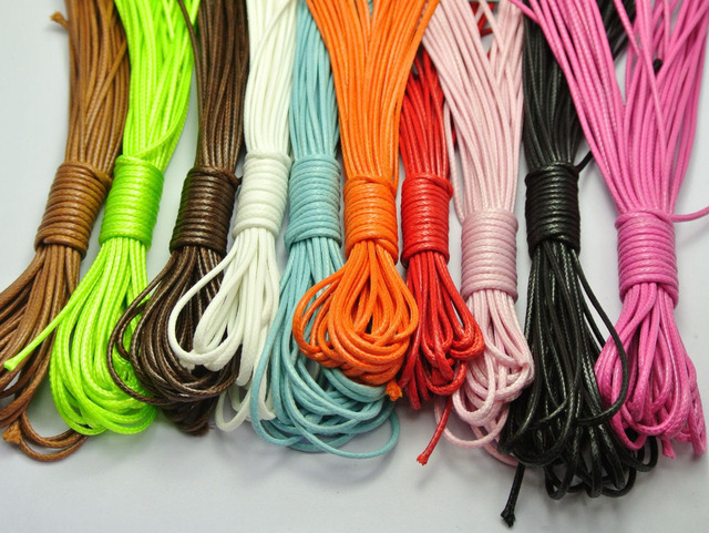 100 Meters Mixed Color Korean Waxed Cord Thread Line 1.5mm for Jewelry String 10 Color