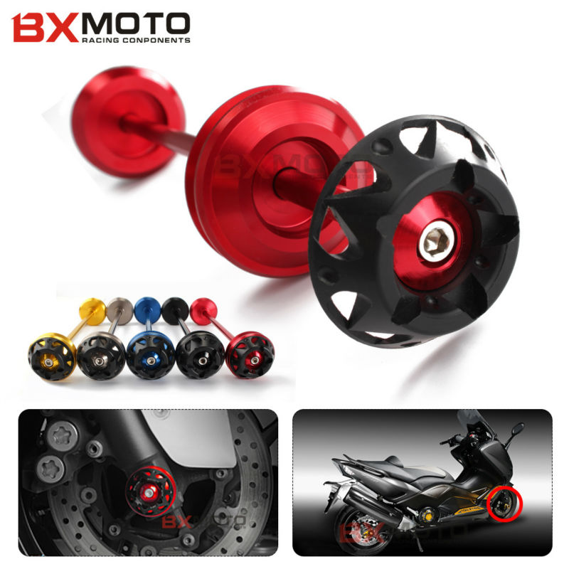 Front Wheel Axle Sliders Wheel Axle Spindle Sliders For Yamaha tmax T MAX 530 tmax530 2012 2013 2014 2015 Falling Protection
