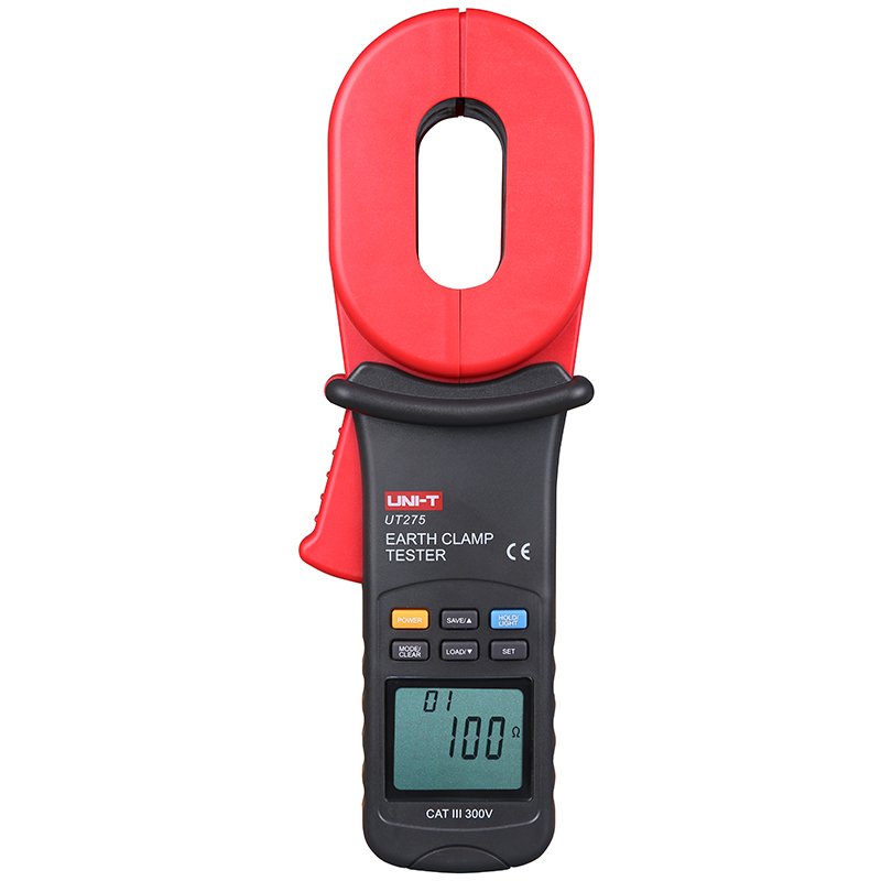 UNI-T UT275 Data Recall Auto Range Clamp Earth Ground Resistance Testers w/ 0~30A Leakage Current Test 0.01-1000ohm Earth resis uni t ut276a auto range digital clamp earth ground resistance testers megohmmeter clamp meters ohmmeter w rs 232 interface