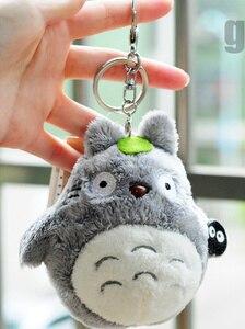 Image 4 - Mini 10cm Totoro Plush Toy kawaii Anime Totoro Keychain Toy Stuffed Plush Pendant Totoro Dolls