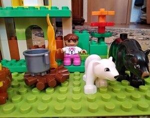 Image 5 - Bộ 3 sản phẩm Duplo Khối Xây Dựng bộ Rừng động vật khối Kích Thước Lớn DIY Khai Sáng Gạch Tương Thích Nhân Vật Đồ Chơi cho Trẻ Em