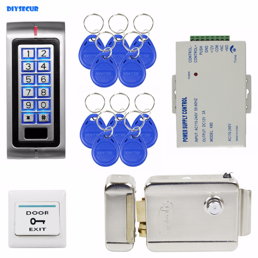 Diysecur 125khz Rfid Password Keypad Access Control System Security K2000 Wiring Diagram Kit Electric Door Lock Exit Switch K2 In Kits From