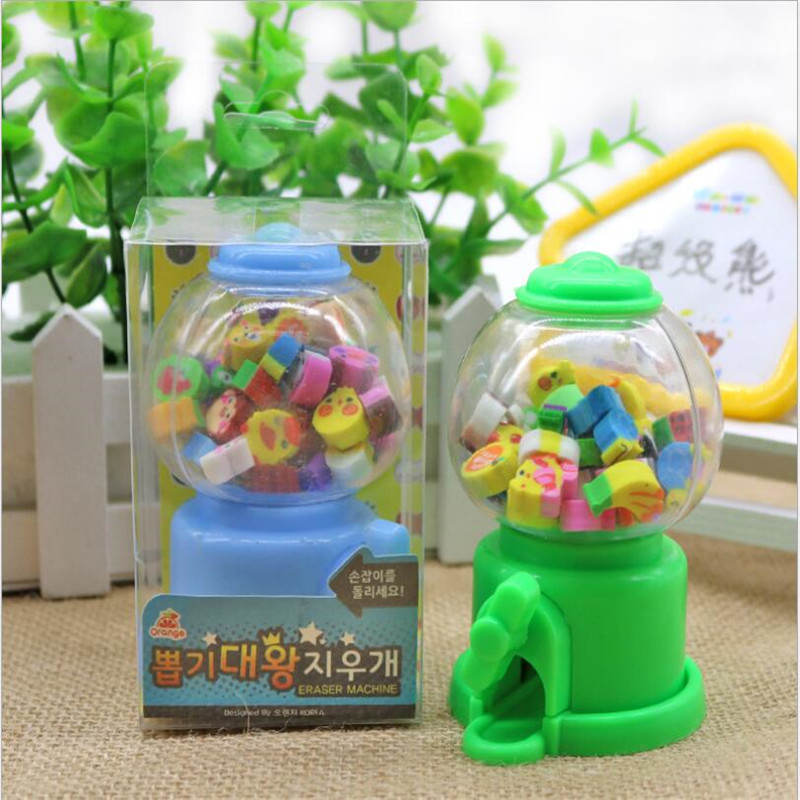 1 Boxes Cute Gashapon Machine Styling Eraser Fruit Animal Rubber For Pencil Kawaii Erasers For Student Gift Prize Gift L