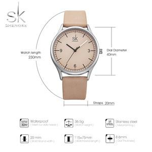 Image 5 - Shengke למעלה מותג קוורץ שעון נשים מזדמנים אופנה יפן תנועה עור אנלוגי שעון יד מינימליסטי מעצב Relogio מתנה