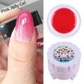 1 Box Pink Jelly Gel 5g Semi-transparent Soak Off Nail Art UV Gel Polish