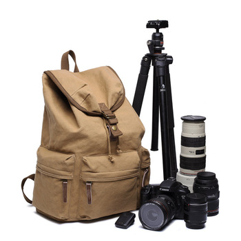 Universal Large Retro DSLR Camera Backpack Shoulders Photo Bag Casual Outdoor Travel Canvas Backpack for Camera Lens Accessories