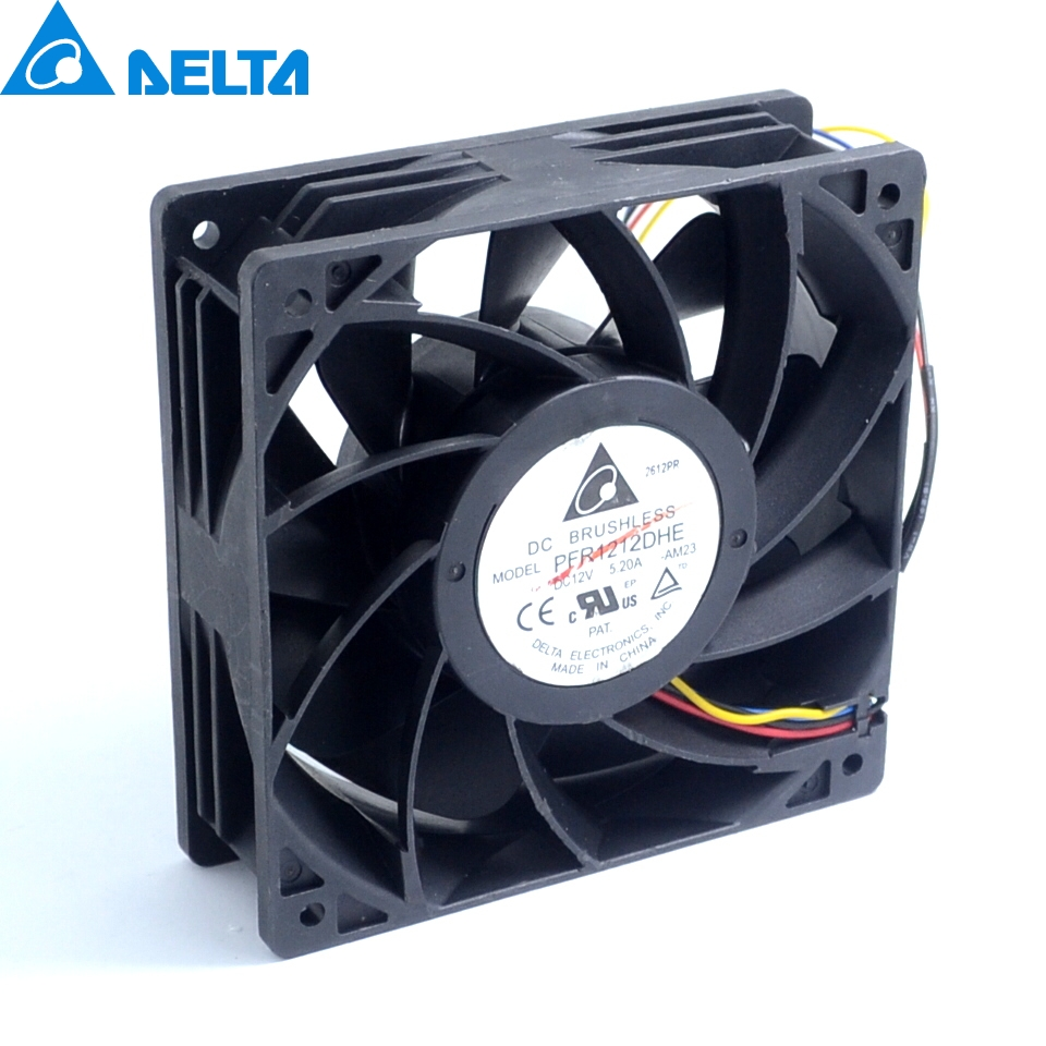 New PFR1212DHE 12V 12038 5.2A super car booster ball fan violence 120*120*38mm delta ffc1212de original 12cm 12038 120mm dc 2 4a ball bearing fan violence powerful case fan