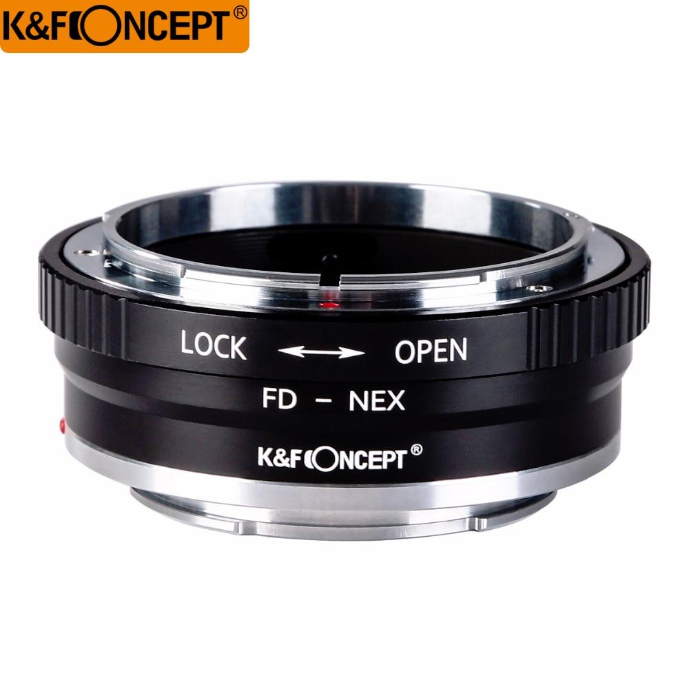 K&F CONCEPT FD-NEX II Camera Lens Adapter Ring For Canon FD Lens to for Sony NEX E-mount Camera Body NEX NEX3 NEX5 NEX5N NEX7 k&f concept for minolta af nex camera lens mount adapter ring for minolta af lens to sony nex e mount for nex 3c nex 5n nex 6