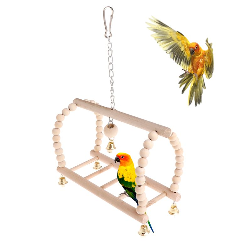 Home & Garden Pet Products Analytical 1pc Wood Material Birds Pets Parrots Ladders Climbing Toy Hanging Ladder Bridge Wooden Rainbow Pet Parrot Toys