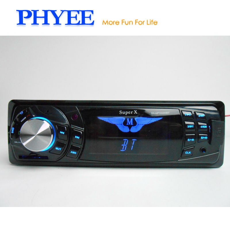 1 Din Bluetooth Autoradio Car Radio MP3 Player Auto Stereo Audio USB SD Aux 7 Colors Backlight In dash ISO Head Unit SX 33000BY
