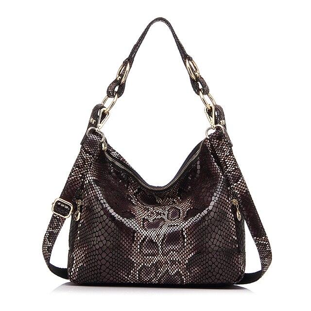 REALER женская сумка хобо из натуральной кожи со змеиным принтом, большая сумка через плечо для женщин, сумка на плечо ремне