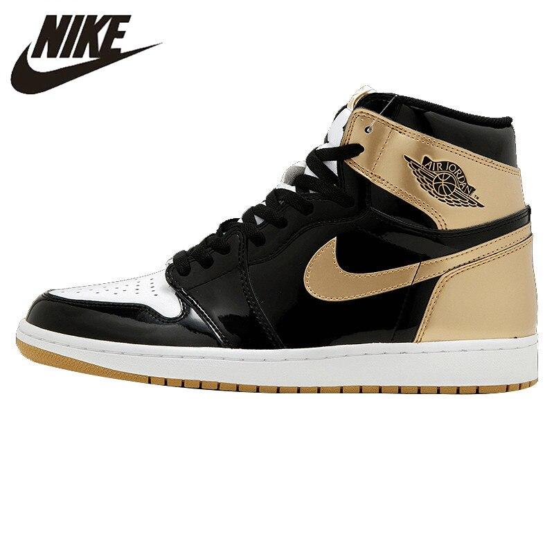 NIKE AIR JORDAN 1 Top3 AJ1 Complexcon Joe 1 Hitam Emas Bebek Mandarin Basket  Sepatu Sneakers a15b718428