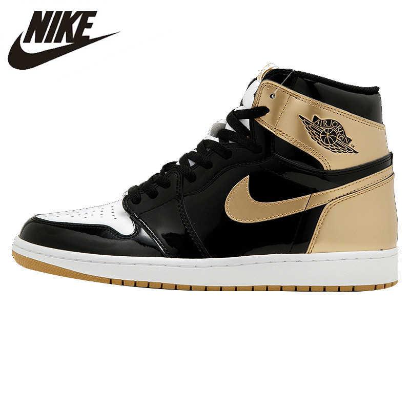 bfc45d0c0935ee Nike Air Jordan 1 Top3 AJ1 ComplexCon Joe 1 black gold mandarin ducks  basketball shoes Sneakers
