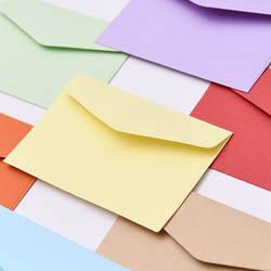 20 шт./компл. мини Карамельный цвет конверт плед Бумага Стиль для свадебного приглашения на свадьбу и день рождения карты Скрапбукинг
