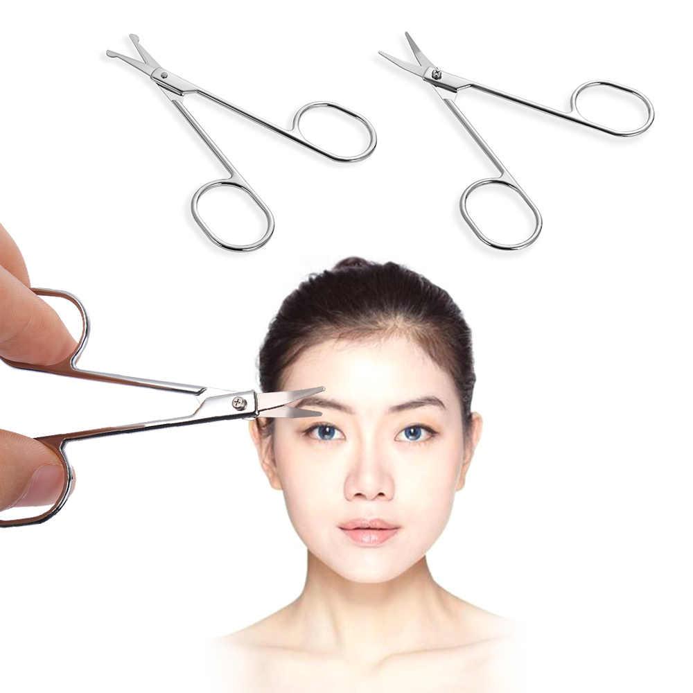 プロ化粧はさみセット眉毛トリマーはさみステンレス鋼爪はさみ女性の顔鼻毛口ひげ除去カッター