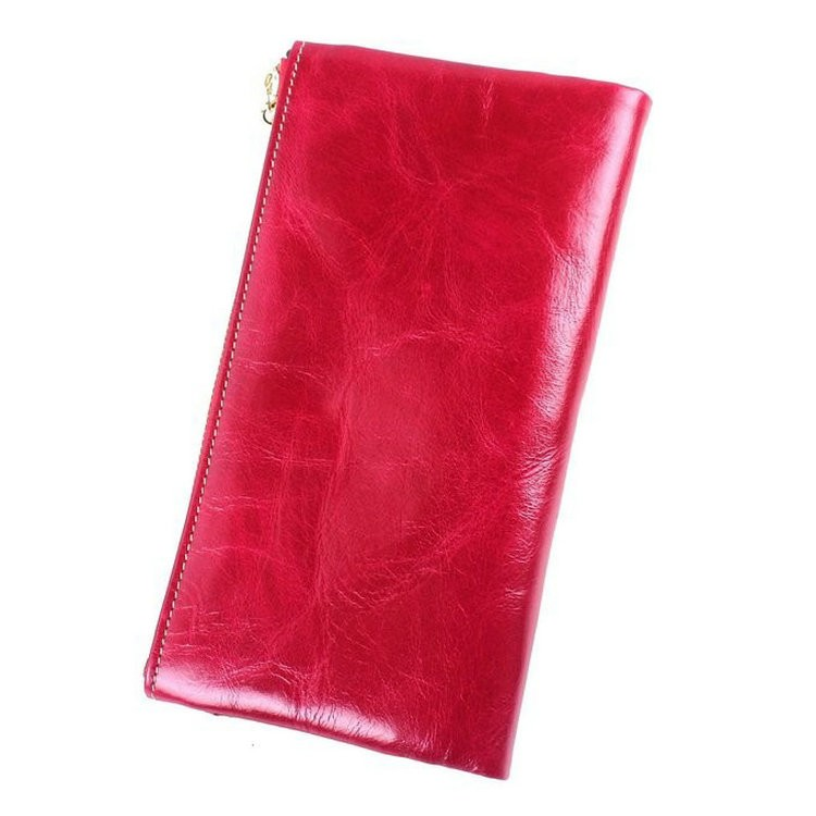 Ladies wallets leather hot pink