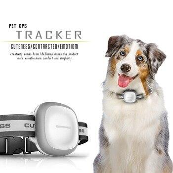14e7990be Mini IP66 impermeable mascotas collar gps tracker Tiempo Real localizador  GPS + lbs + WiFi ubicación localizador para perro gato seguimiento geofence