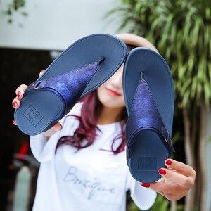 Image 5 - BEYARNE גדול גדלים עקבים פיפ הבוהן קיץ נעלי נשים אישה סנדלי פלטפורמת כפכפים פנאי נופש חוף כפכפים E687