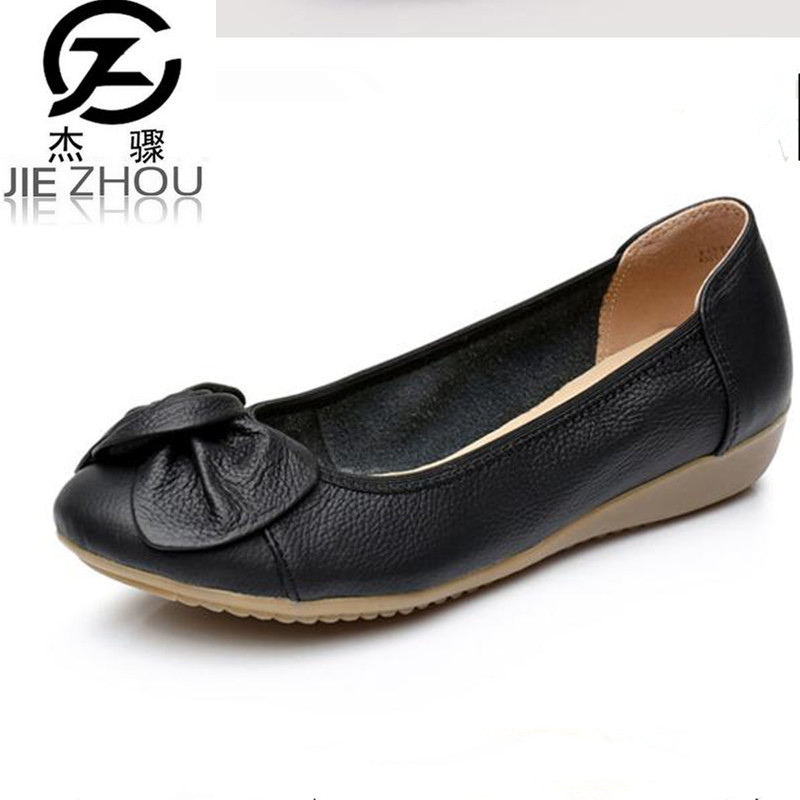 Women Shoes Ballet Flats Slip-On soft bottom non-slip shallow mouth casual shoes Red, Black Flats damski boty obuv summer ballet flats women leather shoes casual fringe slip on basic work shoes rubber soft bottom zapatos mujer