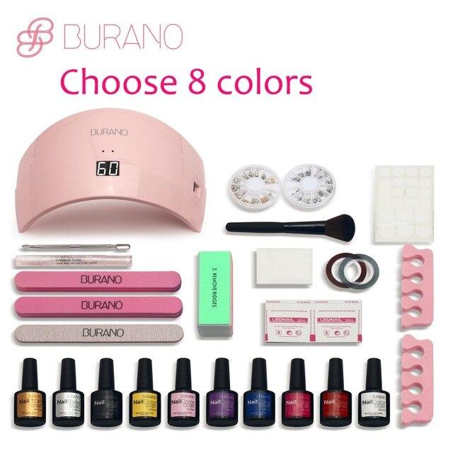 Burano New Arrival Hot Soak Off Gel Polish Nail Kit Art Tools