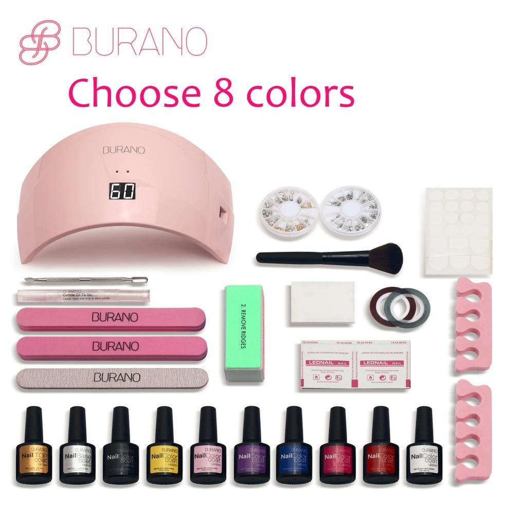 Burano Gel Nail Polish Set Manicure Set Nail Kit Polish Uv