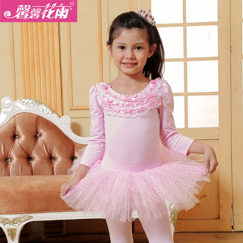 Kids Ballet Dancing Dress Long Sleeve Baby Dance Practice Suit Wedding Party Princess Children Birthday B 4695 In From Novelty