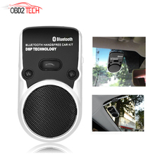 China Post Free Wireless Bluetooth Handsfree Car Kit Solar Power Speakerphone For Mobile Phone Dual Connect