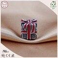 Мода 925 Настоящее Серебро Красной Эмалью Подарочной Коробке Очарование Установки Европейский Известный Браслет
