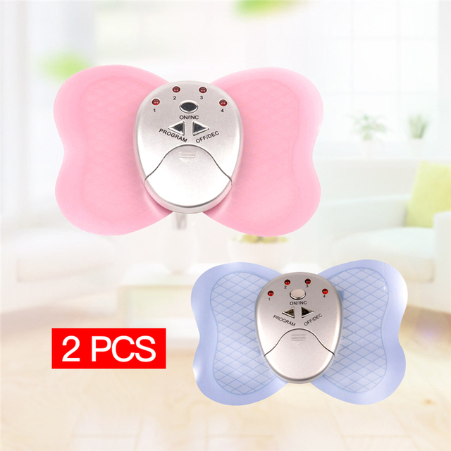 2pcs Slimming Massager Muscle Massager Mini Electronic Body Muscle Butterfly Massager Slimming Vibration Fitness with LED Lights