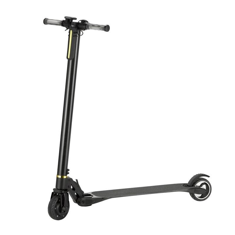5 inch electric fold scooter 2 wheel carbon fiber. Black Bedroom Furniture Sets. Home Design Ideas