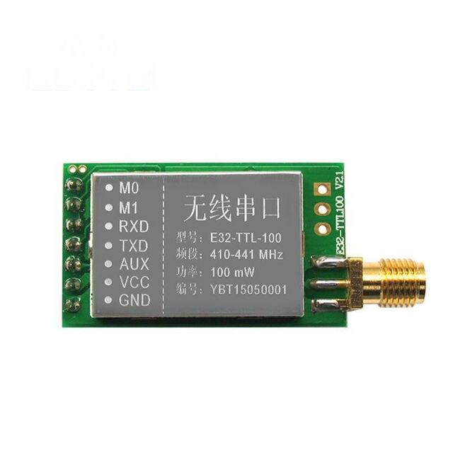 Hot sale E32-TTL-100 SX1278/SX1276 3000m UART 20dBm(100mW) 433MHz wireless rf transmitter and receiver module